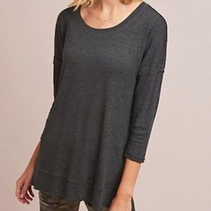 Bordeaux Dropped-Sleeve Tunic Top